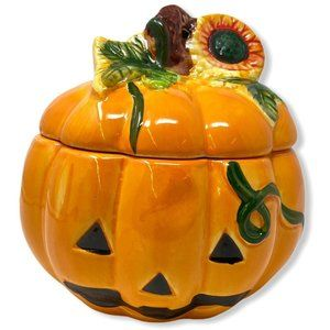 VTG Royal Norfolk Jack-O-Lantern Pumpkin Ceramic